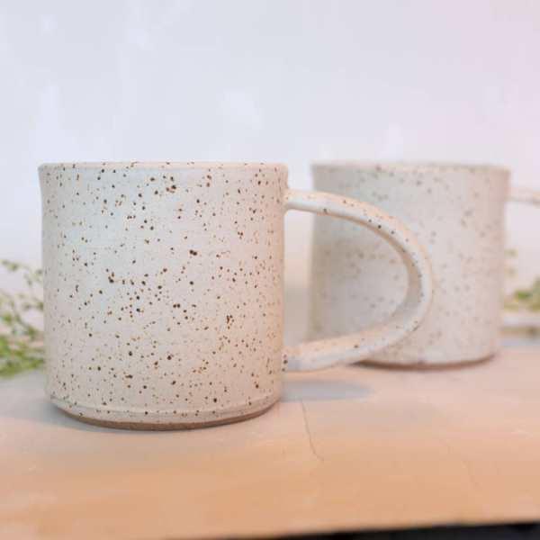 Pineapple Studios - Speckled White Camp Mug