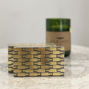Rewined Gold Foil Bottles Matchbox