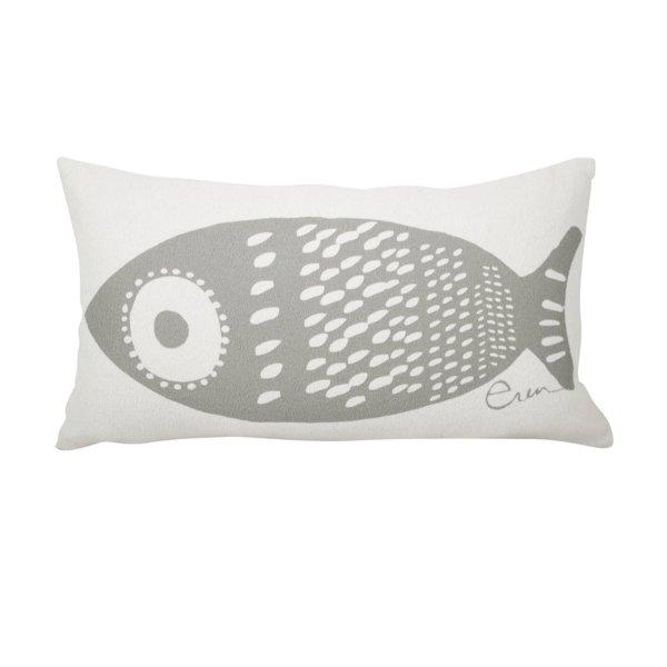 """Erin Flett - 10"""" X 20"""" Single Tuna Lumbar Pillow"""