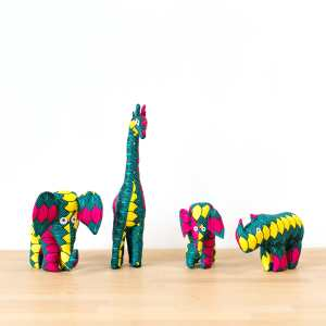 Amsha - Safari Animals: Fan Motif Rino