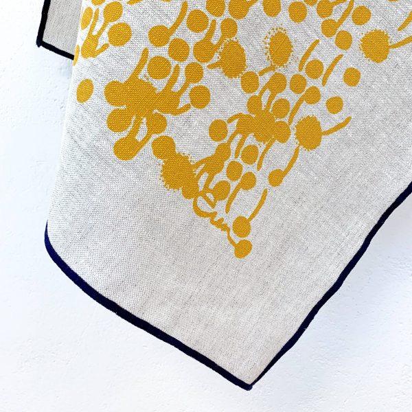 Erin Flett - Gold Berries Oatmeal Linen Tea Towel