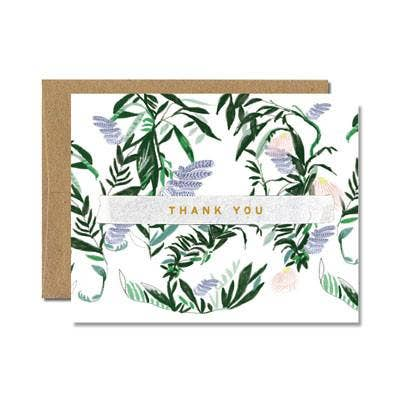 Ferme à Papier - Foil French Fern Thank You Card