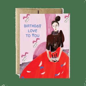 Ferme à Papier - Red gown birthday