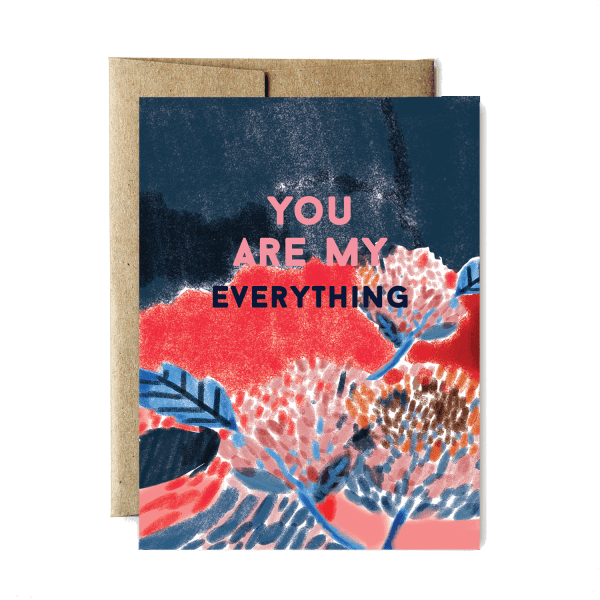 Ferme à Papier - You are my everything flower card