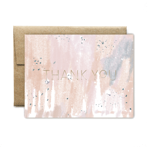 Ferme à Papier - Foil Peach Concrete Thank You Card