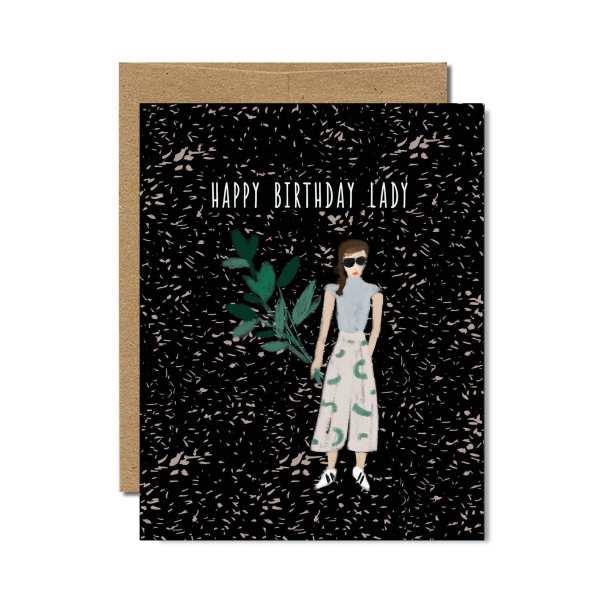 Ferme à Papier - Happy Birthday Lady Greeting Card