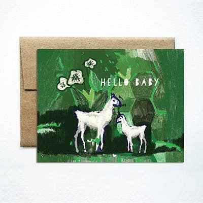 Ferme à Papier - Baby Llama Greeting Card