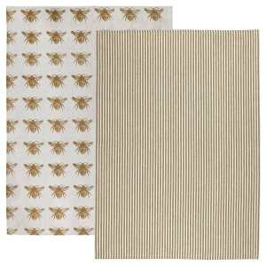 Raine & Humble - Mustard Honey Bee Tea Towel Pack