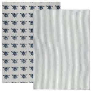 Raine & Humble - Prussian Blue Honey Bee Tea Towel Pack