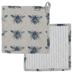 Raine & Humble - Prussian Blue Honey Bee Trivet