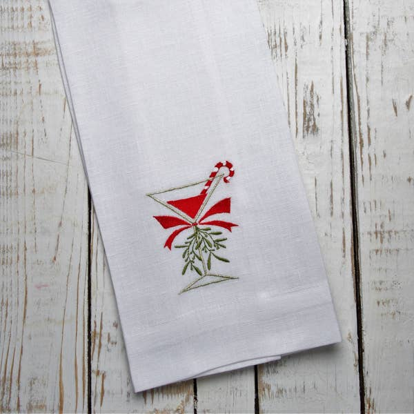 Crown Linen Designs - Christmas Cosmo Linen Holiday Towel
