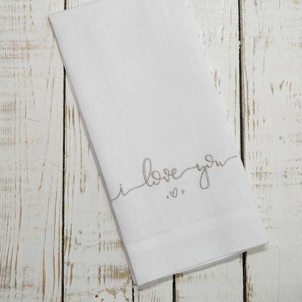 Crown Linen Designs - I Love You Linen Towel