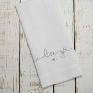 Crown Linen Designs - I Love You Linen Towel