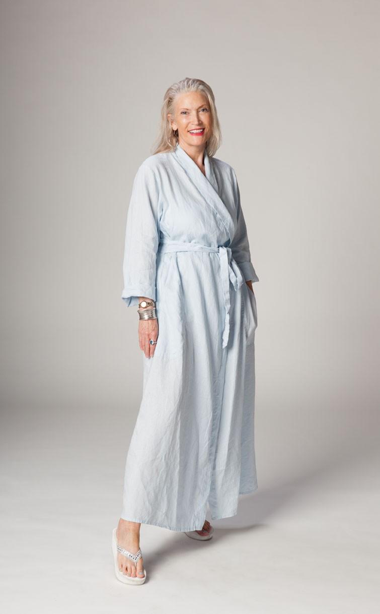 Classic Long Linen Robe  Linen Robes