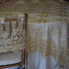 Chair Caps Covers Parson Slipcovers Dining Chairs Linens And Beyond Champagne Sequins Lace Trim Cap Specialty