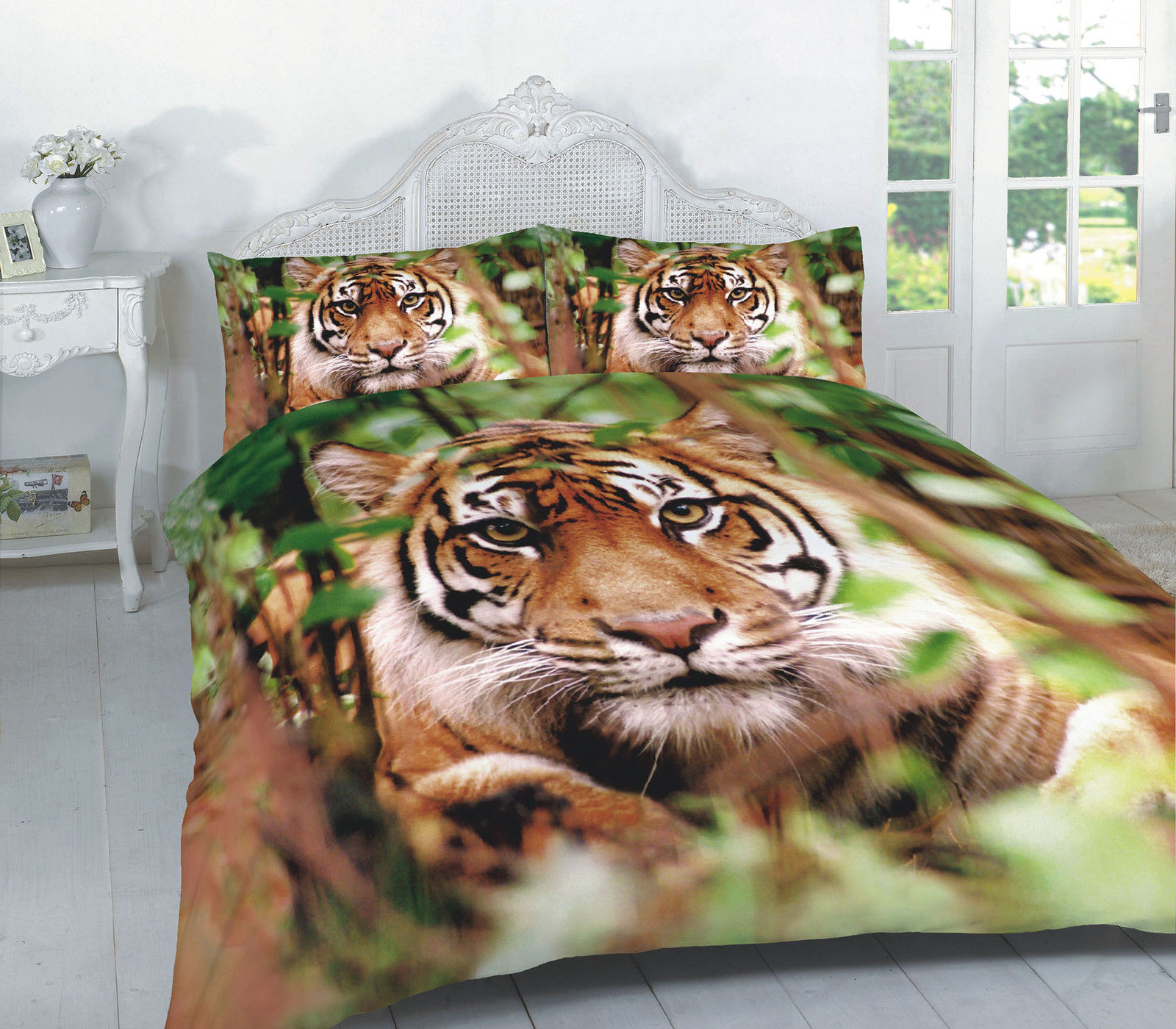 kitchen cushion mat faucet supply lines animal tiger 3d effect duvet cover bedding set