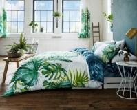 Tropical Leaf Botanical Floral Modern Duvet Cover Bedding ...
