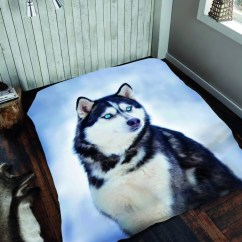 Kitchen Cushion Mat How To Renovate A Husky Dog 3d Cosy Blanket Sofa Throw Christmas Gift Double ...