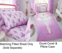 Ballerina Dance Girl Kids Single Pink Duvet Quilt Cover ...