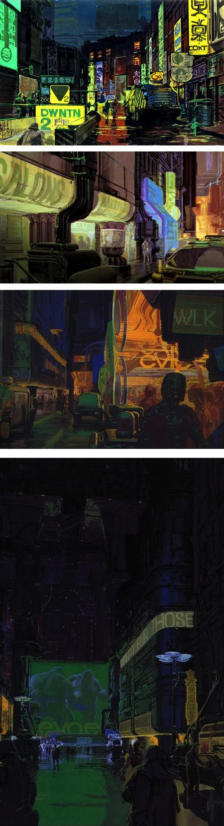 Syd Mead Concept Art : concept, Blade, Runner, Concept, Lines, Colors