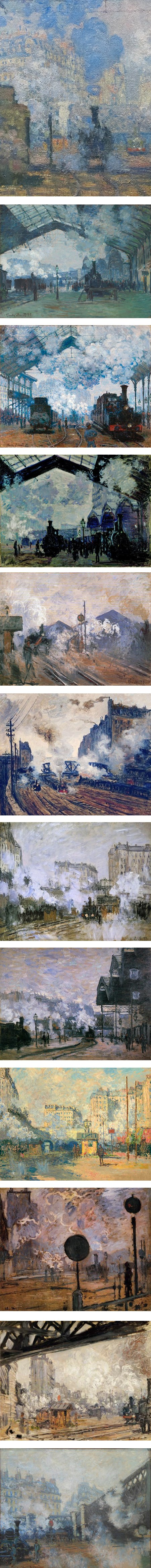Claude Monet Gare Saint Lazare : claude, monet, saint, lazare, Monet's, Saint-Lazare, Series, Lines, Colors
