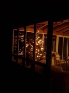 The Christmas tree at Meditatio House