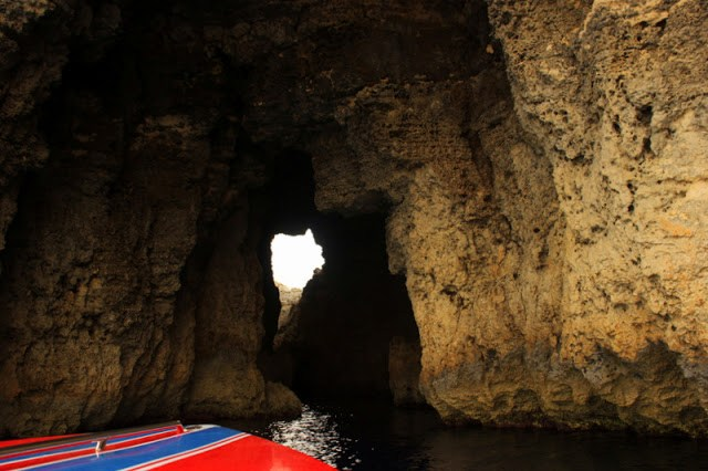 Comino caves by speedboat