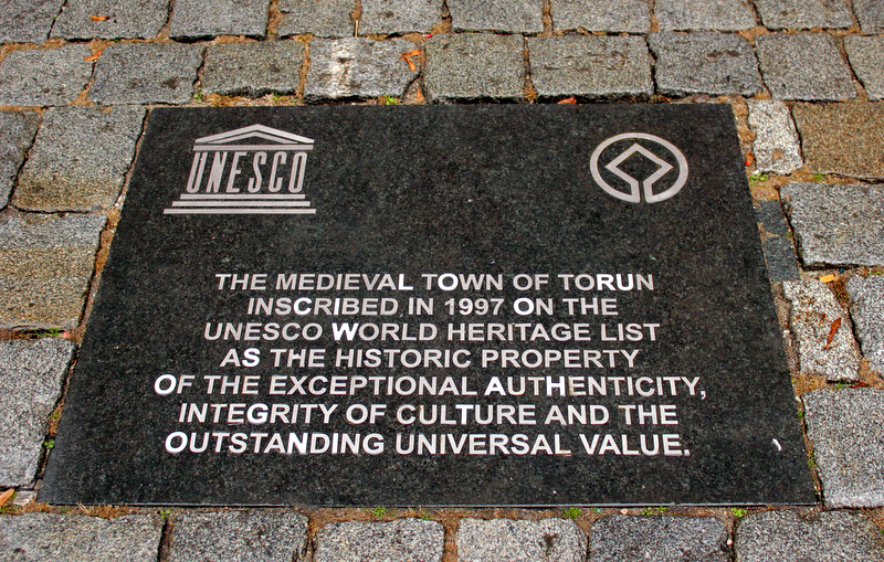 UNESCO Plaque at Torun