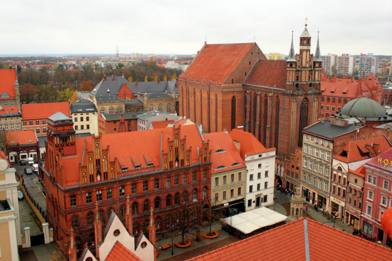 A view of Torun's churches.