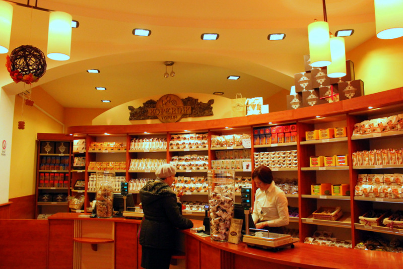 Interior of a pierniki store