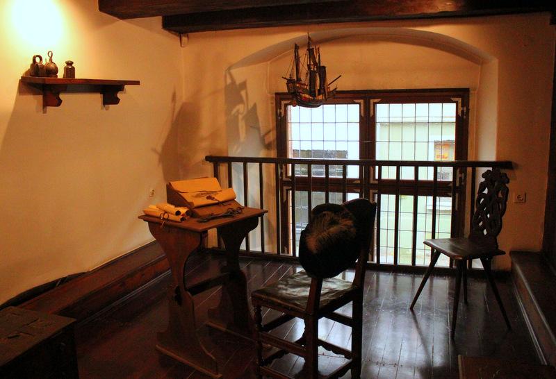 Traders desk in Nicolaus Copernicus Museum