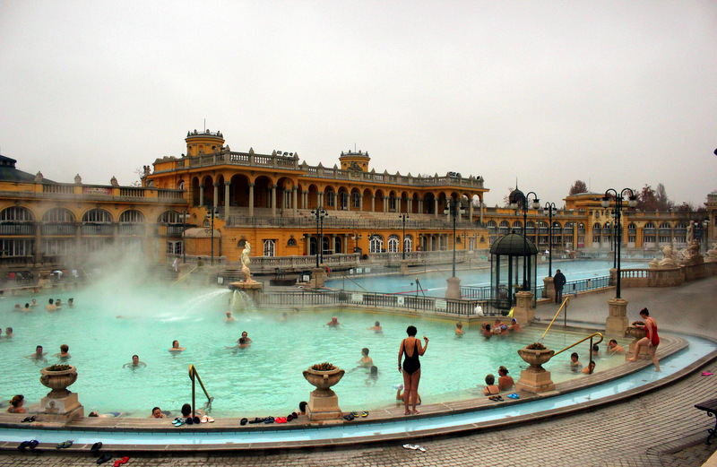 Outdoor pool of Szechenyi Baths, Budapest