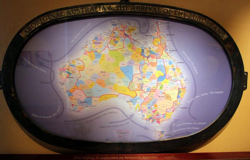 Map of Australia, Migration Museum