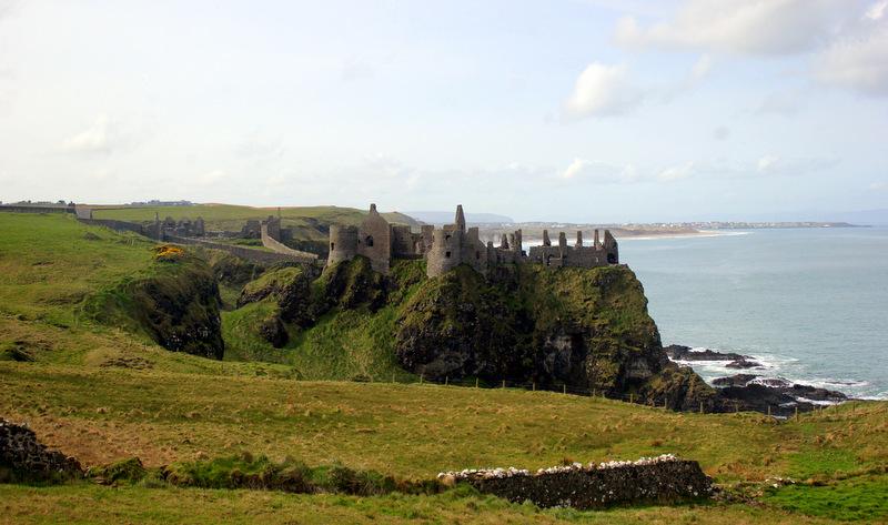 Dunluce Castle from afar