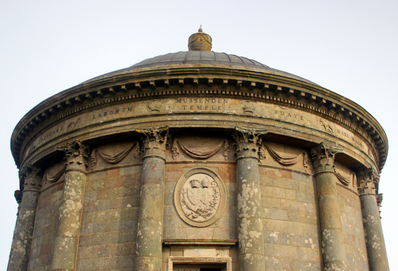 A close up of Mussenden Temple