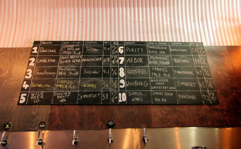 Beer selection at UBREW