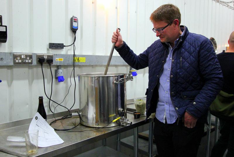 Stirring brew at UBREW