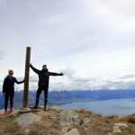 On top of the world at Isthmus Peak, New Zealand