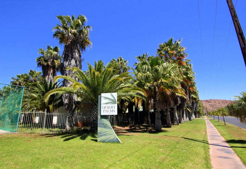 Outside Desert Palms Resort