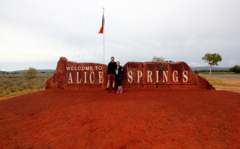 Alice Springs welcome sign