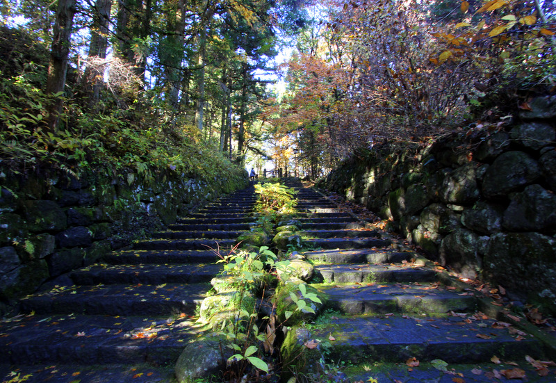 Stairs up to Nikko's temples