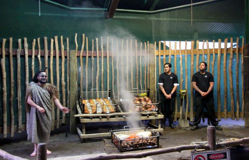 Food at Tamaki Maori Village
