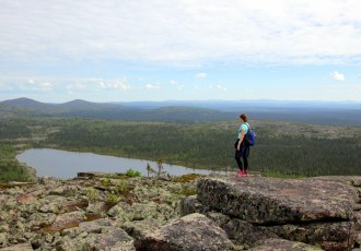 Hiking to the sacred tors of Pyha-Nattanen
