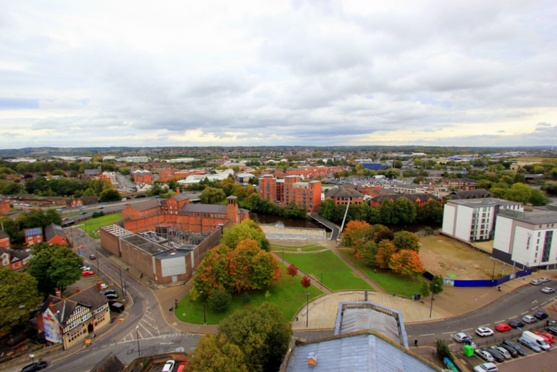View from Derby Cathedral