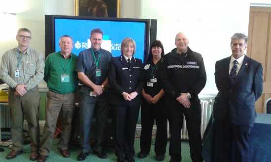 In February 2015, Dilip revisited his old force's headquarters at Hindlip Hall, Worcester, to speak at West Mercia & Warwickshire's Rural & Wildlife Crime Conference, organised by Sergeant Allie Webster (second left), who is a key player in setting up the forthcoming Operation LEVIATHAN – targeting illegal fishing and fish theft in the West Mercia, Warwickshire and Gloucestershire force areas.
