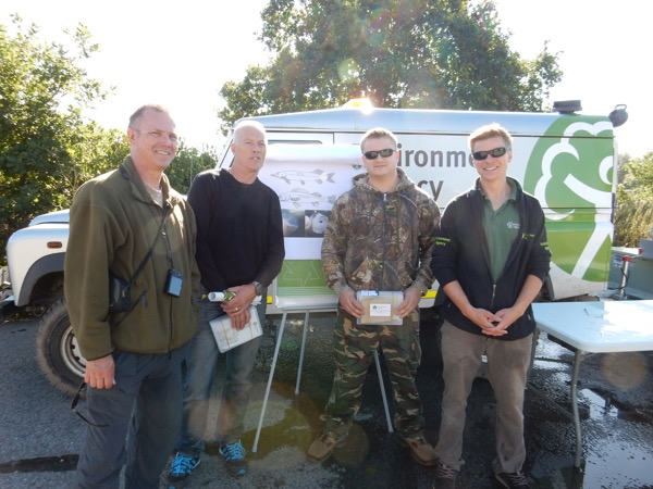 Brecht Morris of the Environment Agency (right) with anglers at the recent sampling training day for the Severn Basin Predator Study. Anyone wishing to get involved should email brecht.morris@environment-agency.gov.uk
