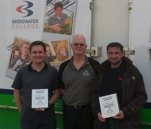 SW Regional Enforcement Manager Nevin Hunter (centre) pictured at Bridgwater College, Somerset, with Commercial Development Manager Shaun Plenty and a fisheries student. Joining the Voluntary Bailiff Service is undoubtedly a good thing for any fisheries related CV.