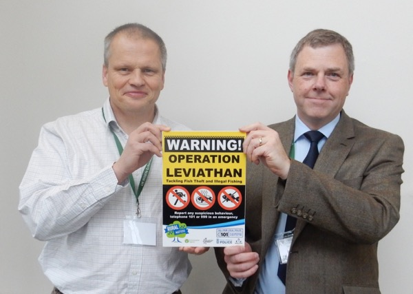 Chief Constable Simon Prince (right), National Policing Lead on Rural & Wildlife Crime, and Chief Inspector Martin Sims, Head of the UK National Wildlife Crime Unit, both fully understanding of the issues we have as anglers with poaching and fish theft, and fully supportive of our efforts to resolve them.