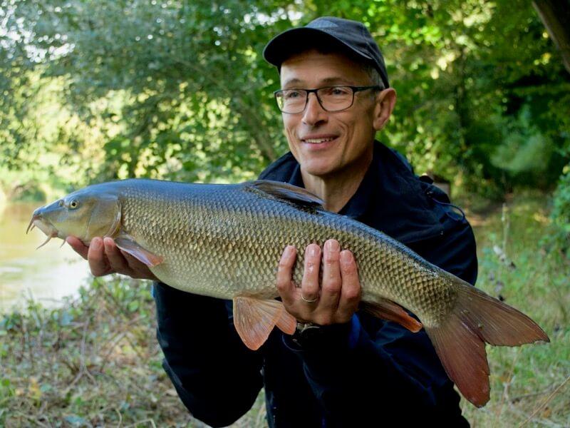Barbel fishing River Severn