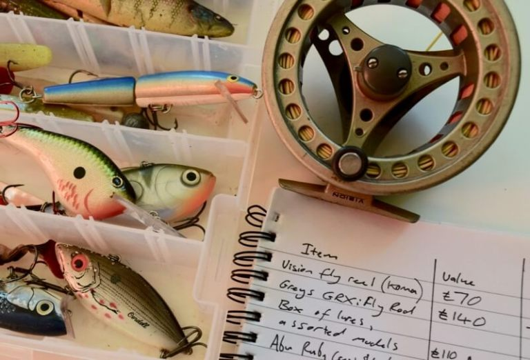 Fishing tackle inventory security tips